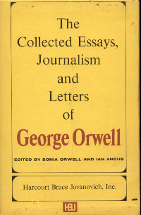 george orwell collected essays 1961 George orwell (1903-1950), british author repr in the collected essays, journalism and letters of george orwell, vol 3, eds sonia orwell and ian angus (1968) the english people, (1944) on the english attitude toward food.