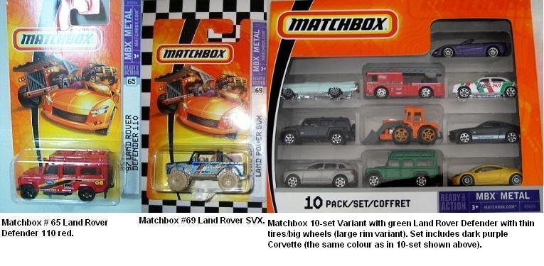 Matchbox Land Rover Models And Sets
