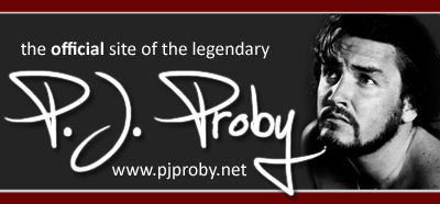 P.J. Proby Official Pages