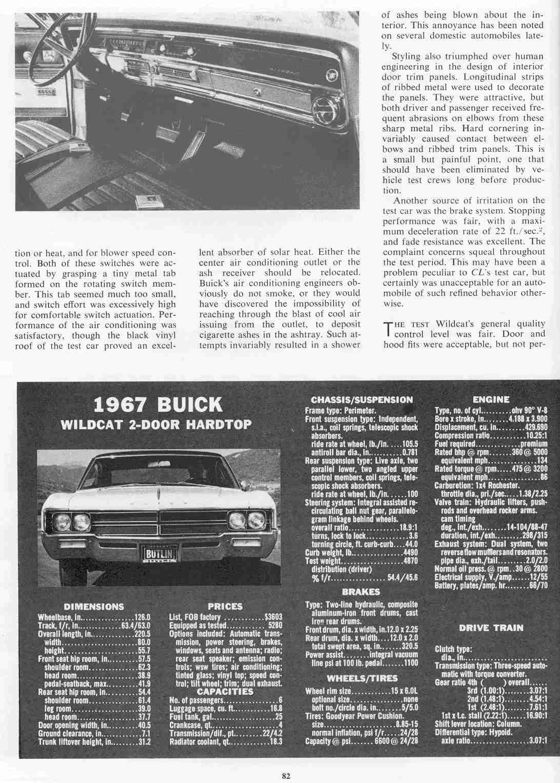 1967 Buick Wildcat Roadtest 2 Door Hardtop Page 4 5 Back To The