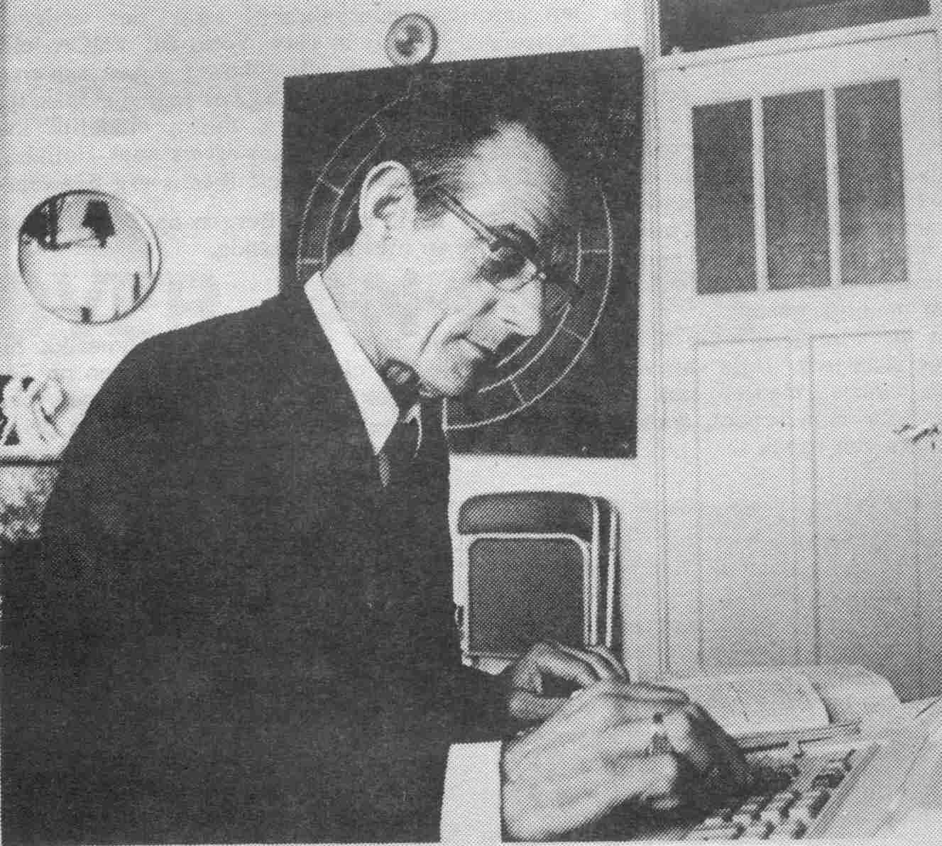 Het maken van de tekst werd vergemakkelijkt door de composer en de computer