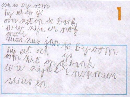 Ongelinieerd schrijven moet op de basisschool verboden worden...
