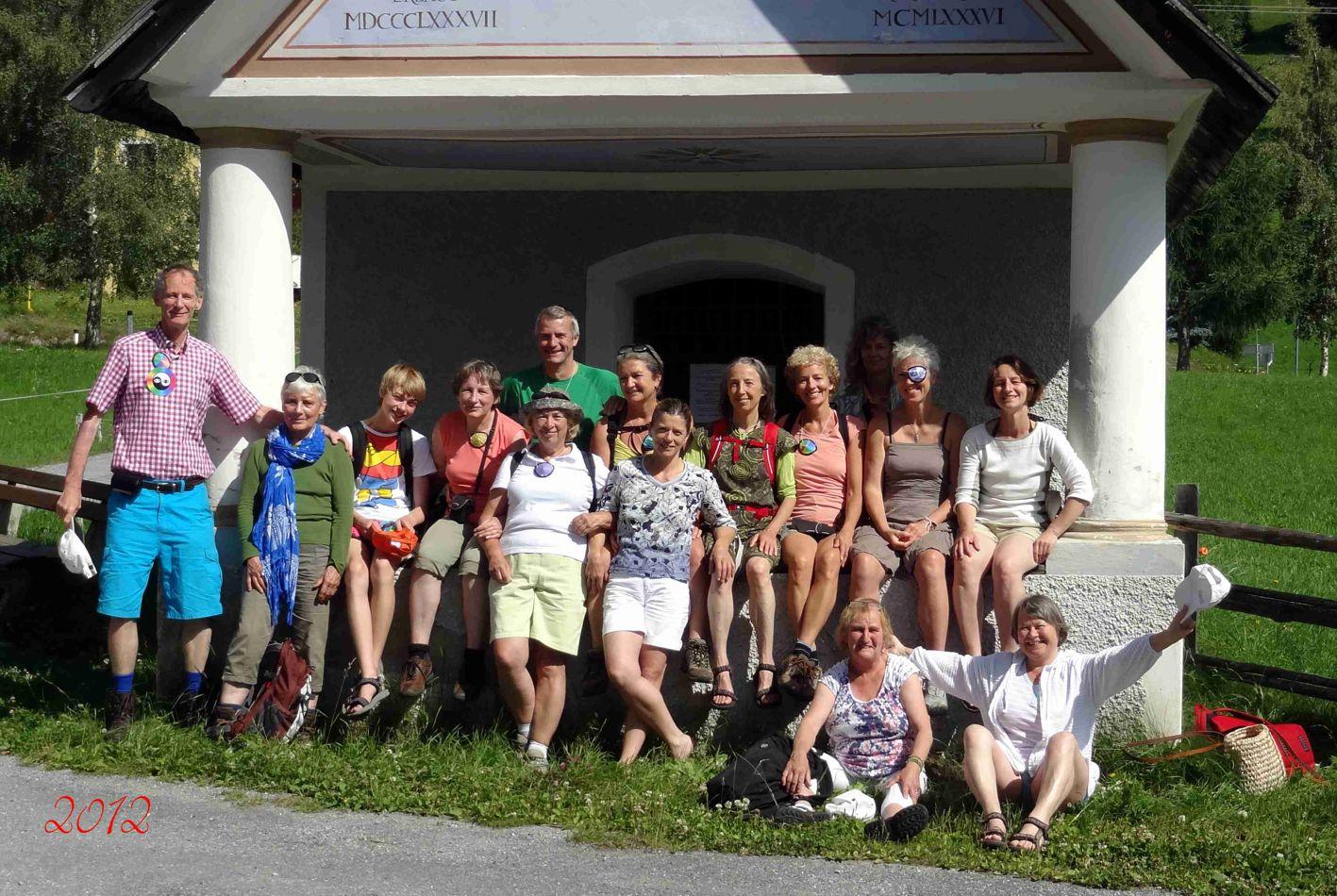 Groepsfoto van de deelnemers ogencursus en vakantie in Oostenrijk 2012