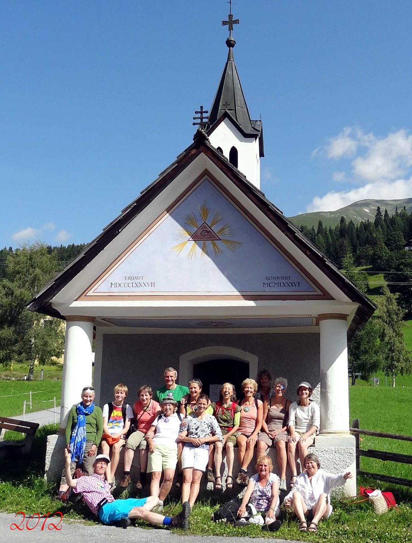 Groepsfoto A ogencursus en wandelvakantie in Oostenrijk 2012