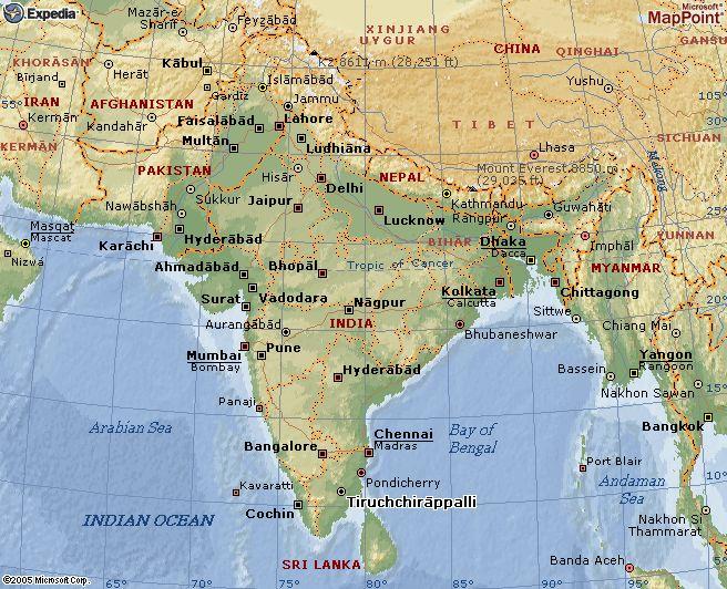 Kaart India Digtotaal