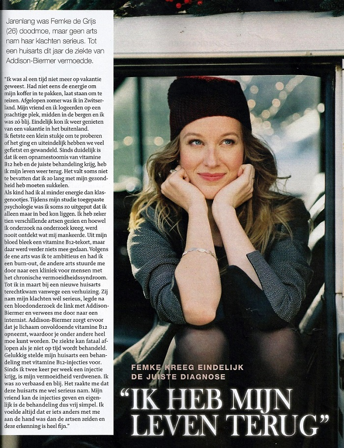 artikel in libelle over addison-biermer