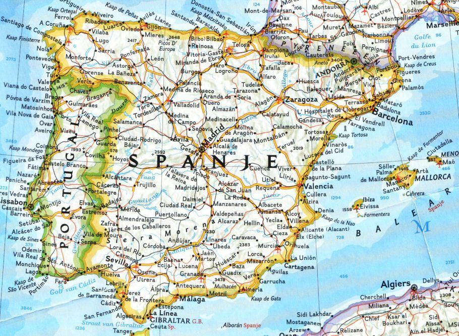 Scott Weakley Kaart Van Spanje