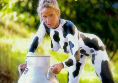 Erotic milk the cow And have